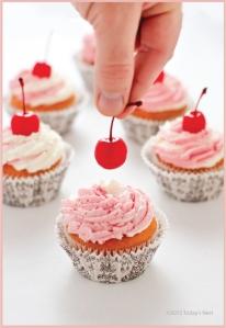 cherry picked cupcake
