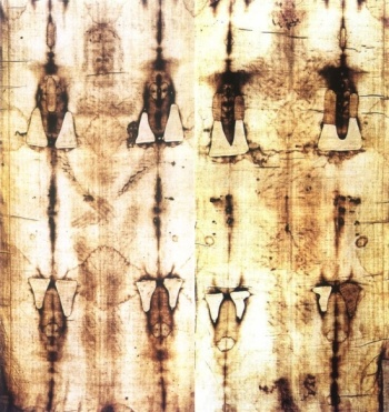FRONT AND BACK OF THE SHROUD OF TURIN