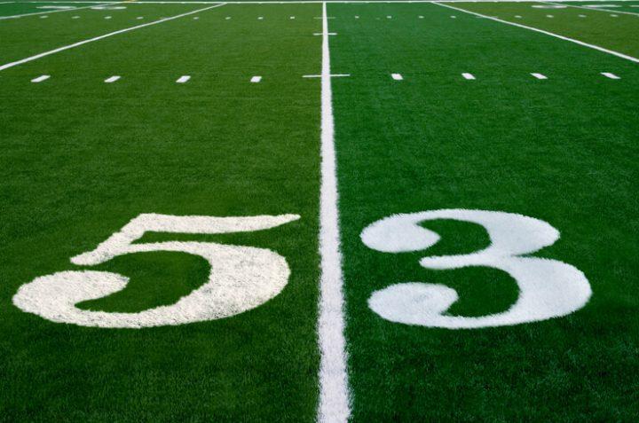 number 53 football field