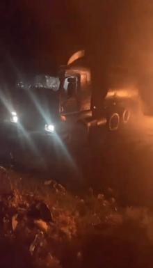 burning truck 2