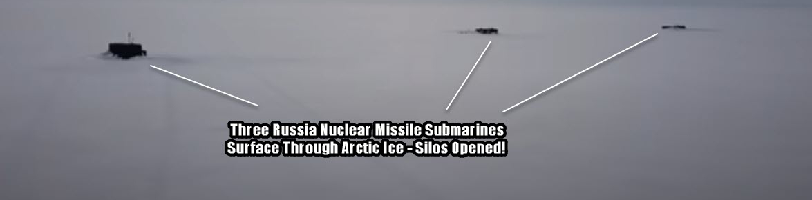 Russia-3-Subs-Surface-Thru-Arctic-Ice
